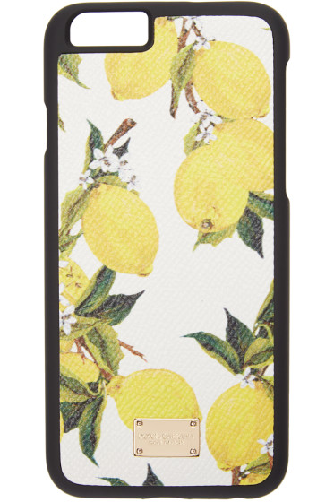 Dolce & Gabbana - White Lemon Print iPhone 6 Case
