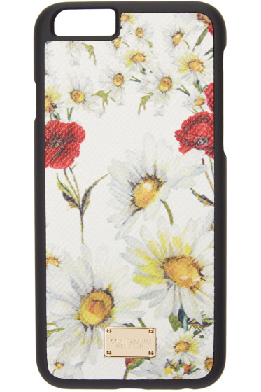 Dolce & Gabbana - White Floral Print iPhone 6 Case