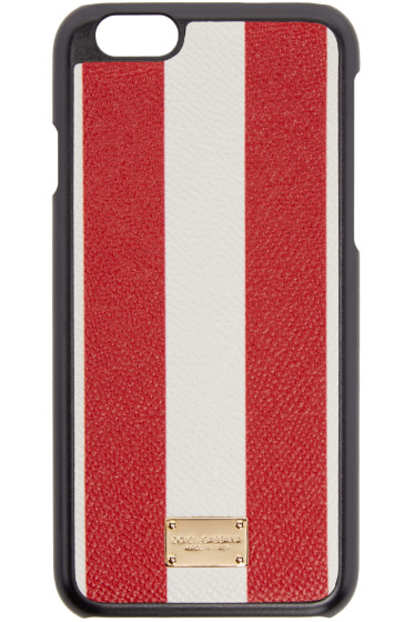 Dolce & Gabbana - Red & White Striped iPhone 6 Case