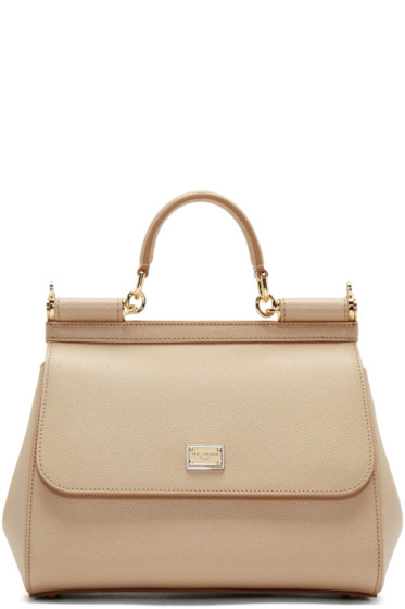 Dolce & Gabbana - Beige Medium Miss Sicily Bag