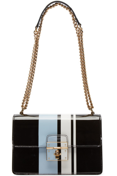 Dolce & Gabbana - Tricolor Striped Rosalia Bag