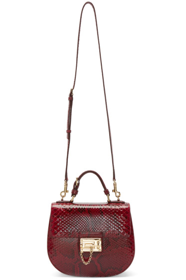 Dolce & Gabbana - Red Python Monica Bag