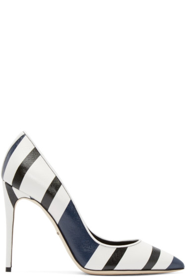 Dolce & Gabbana - Tricolor Striped Heels