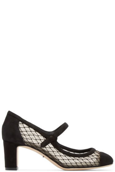 Dolce & Gabbana - Black Netting Mary Jane Heels