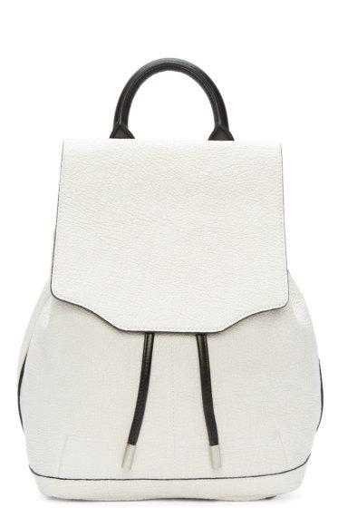 Rag & Bone - White Leather Mini Pilot Backpack