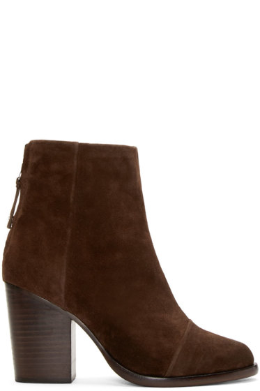 Rag & Bone - Brown Suede Ashby Ankle Boots