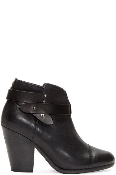 Rag & Bone - Black Leather Harrow Boots