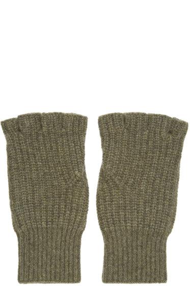 Rag & Bone - Green Cashmere Kaden Gloves