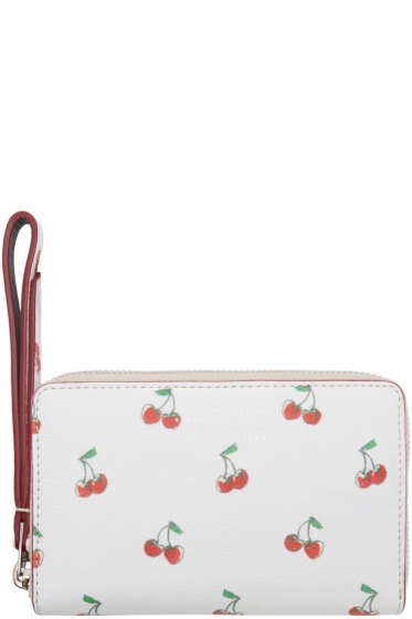 Marc by Marc Jacobs - White Cherry Print Wingman Wallet