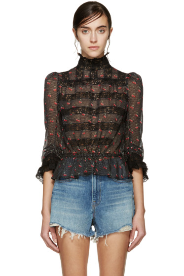 Marc by Marc Jacobs - Black Cherry Peplum Blouse