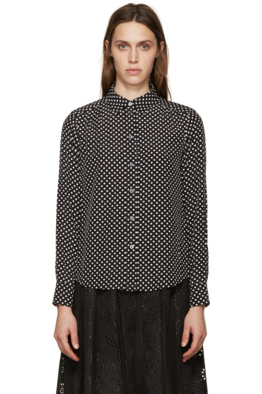 Marc by Marc Jacobs - Black Polka Dot Blouse