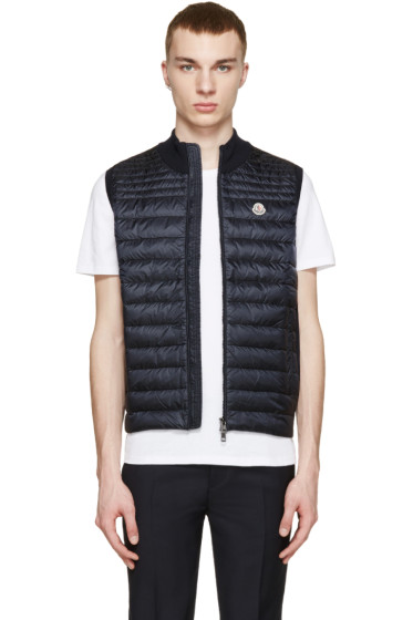 Moncler - Navy Down Knit Vest