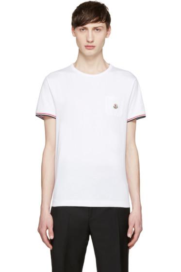Moncler - White Pocket T-Shirt