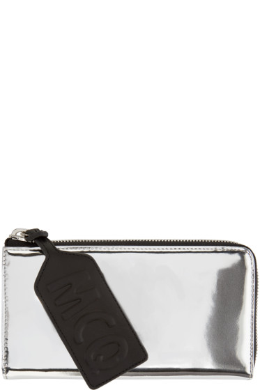 McQ Alexander Mcqueen - SIlver Patent Leather Intro Wallet
