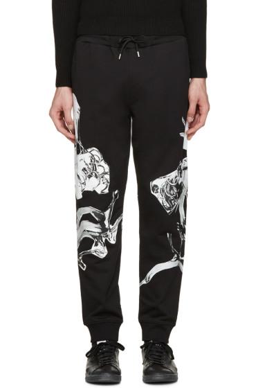 McQ Alexander Mcqueen - Black Graphic Print Lounge Pants
