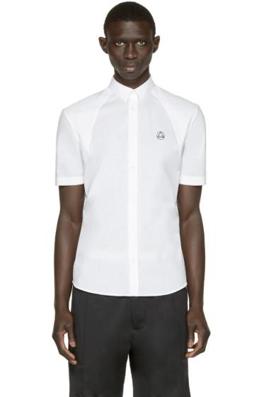McQ Alexander Mcqueen - White Harness Logo Shirt