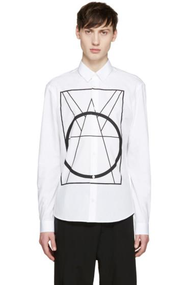 McQ Alexander Mcqueen - White Geometric Print Shirt