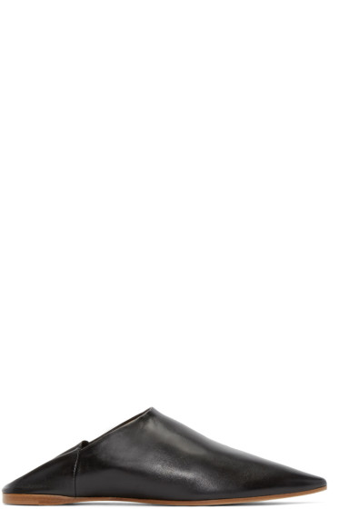 Acne Studios - Black Leather Amina Flats