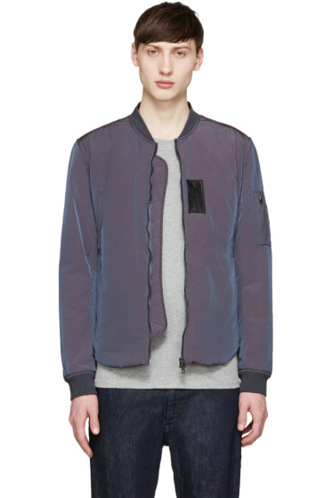 Acne Studios - Blue Iridescent Silas Bomber Jacket