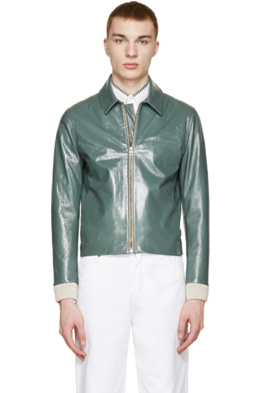 Acne Studios - Green Leather Adrien Jacket