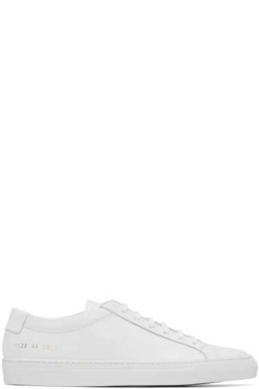 Common Projects - White Original Achilles Sneakers