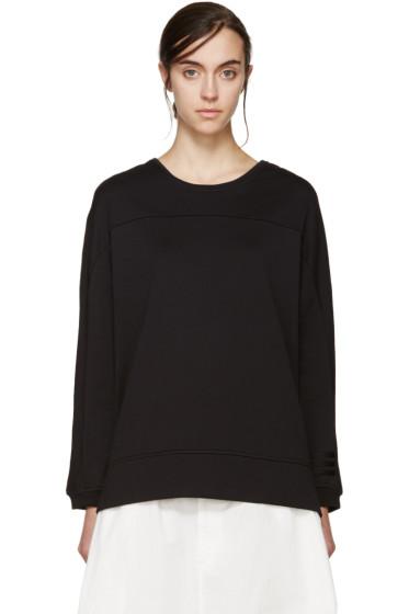 Y-3 - Black Striped Sweatshirt
