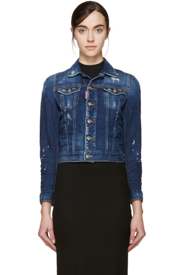 Dsquared2 - Blue Distressed Denim Jacket