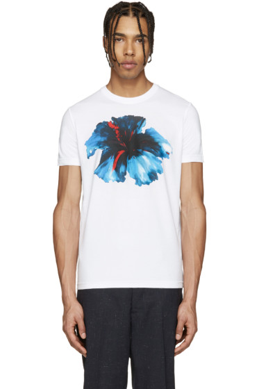 Dsquared2 - White Floral T-Shirt