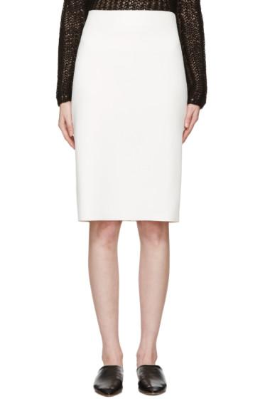 Helmut Lang - Ivory Neoprene Skirt