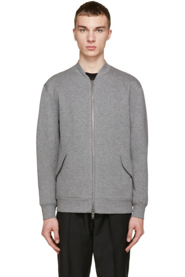 Helmut Lang - Grey Jersey Bomber Jacket