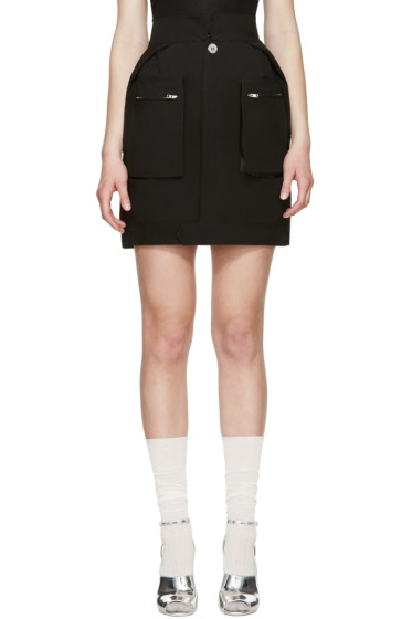 Maison Margiela - Black Poplin Pocket Skirt