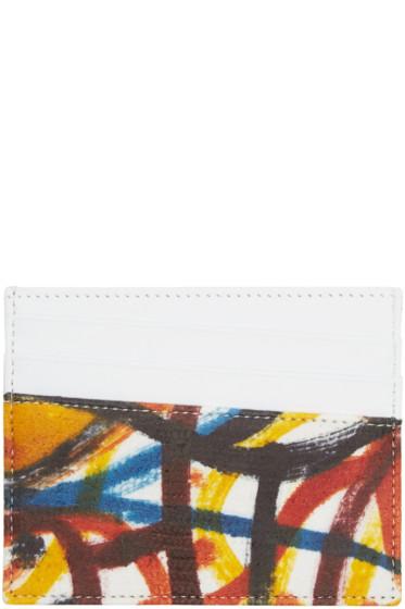 Maison Margiela - White & Multicolor Leather Graffiti Card Holder