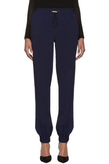 Christopher Kane - Navy Drawstring Trousers