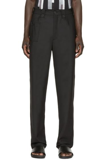 Christopher Kane - Black Stretch-Wool Trousers