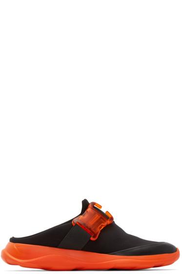 Christopher Kane - Black Neoprene Slip-On Sneakers