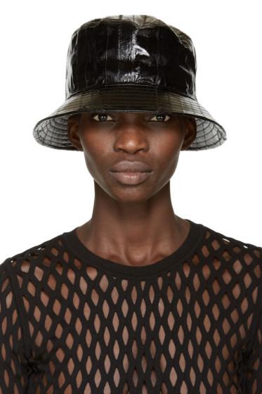 Alexander Wang - Black Eel Bucket Hat