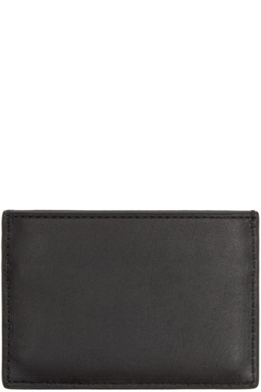 Alexander Wang - Black Leather Logo Card Holder