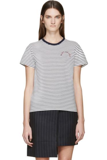 Marc Jacobs - Navy & White Striped T-Shirt