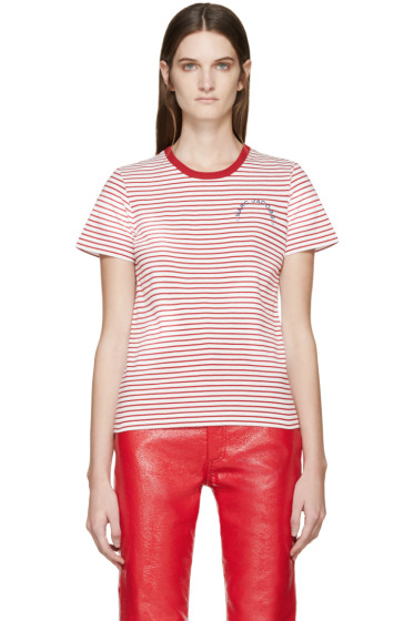 Marc Jacobs - Red & White Striped T-Shirt