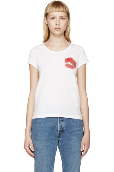 Marc Jacobs - White Mini Lips T-Shirt