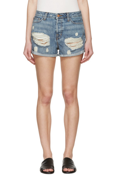 J Brand - Blue Distressed Shorts