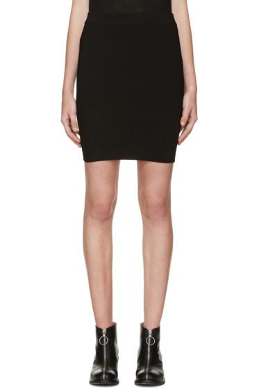 T by Alexander Wang - Black Knit Miniskirt