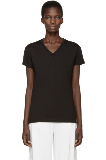 T by Alexander Wang - Black V-Neck T-Shirt