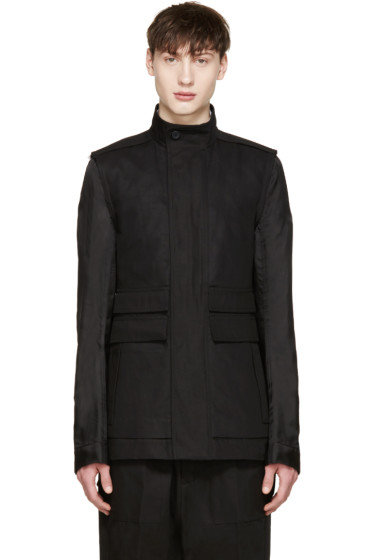 Rick Owens - Black Contrast Sleeve Jacket
