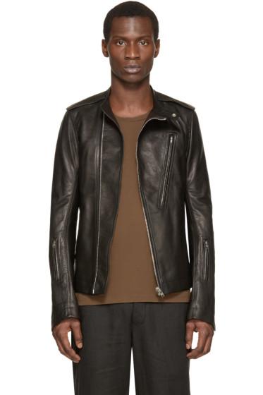 Rick Owens - Black Leather Cyclops Biker Jacket