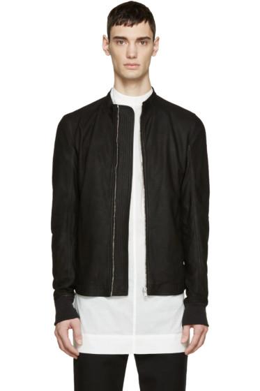 Rick Owens - Black Leather Sternberg Jacket