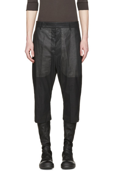 Rick Owens - Black Cropped Easy Astaires Trousers