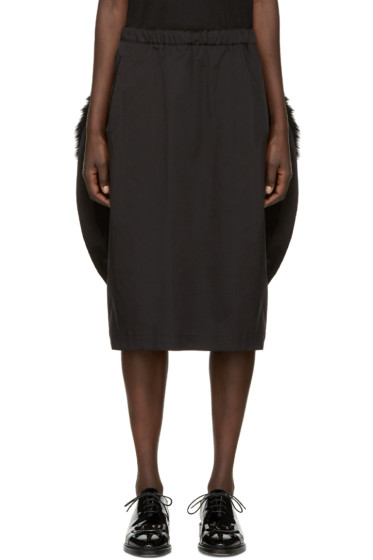 Comme des Garçons - Black Faux-Fur Trim Skirt