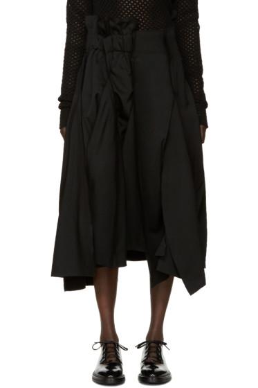 Comme des Garçons - Black Asymmetric Wool Skirt
