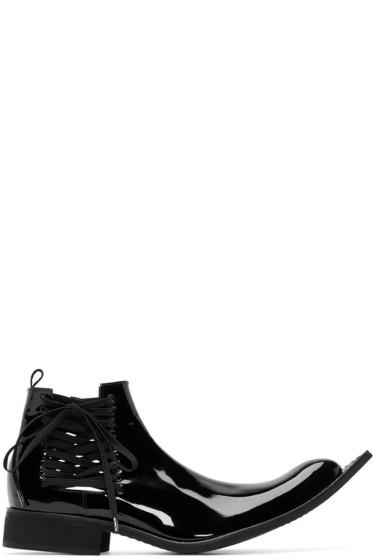 Comme des Garçons - Black Patent Leather Pointed Boots